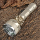 New-666 3 x Cree XM-L T6 2500lm 5-Mode White Flashlight - Light Golden (1 x 18650 / 26650)