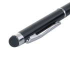 SANH-3 Universal Mini 3-in-1 Stylus + Ballpoint Pen for Capacitive / Resistive Touch Screen - Black