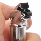 HONEST 1# Butane Gas Jet Windproof Lighter - Champagne + Silver