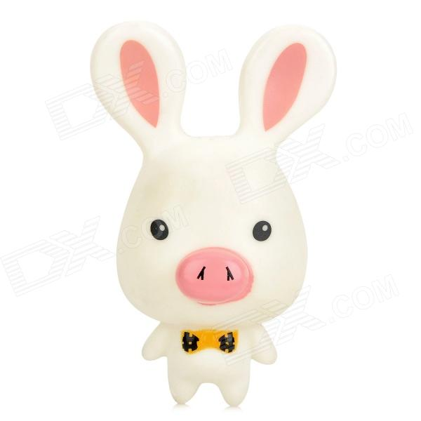 Cartoon Suction Cup Pig Nose Rabbit Toy - White + Pink от DX.com INT