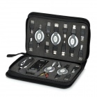 HV-A02 Multi-Function 17-in-1 Portable USB Kit Set w/ Carrying Bag - Black