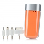 YDDY-CL-401-CHENGSE Portable 4400mAh Li-ion External Mobile Battery Power Charger - Orange