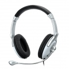 Cosonic CT-780 Stylish Headphone Headset w/ Microphone for PC - Silver White + Black