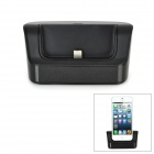 Battery Power Desktop Charger Dock for iPhone 5 - Black