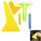 HF-128 5-in-1 Vehicle Car Windshield Film Knife + Scraper Tools Set - Green + Yellow