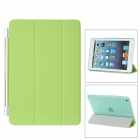 Protective Plastic Smart Cover Stand w/ Back Case for iPad Mini - Green