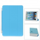 Protective Plastic Smart Cover Stand w/ Back Case for iPad Mini - Blue