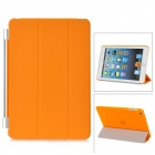 Protective Plastic Smart Cover Stand w/ Back Case for iPad Mini - Orange