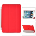 Protective Plastic Smart Cover Stand w/ Back Case for iPad Mini - Red