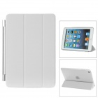 Protective Plastic Smart Cover Stand w/ Back Case for iPad Mini - White