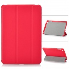 Protective PU Leather Smart Case for iPad Mini - Red