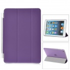 Protective Plastic Smart Cover Stand w/ Back Case for iPad Mini - Purple