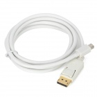 Mini DisplayPort DP Male to DisplayPort DP Male Adapter Cable for MacBook - White (150cm)