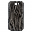 Wood Grain Pattern Replacement Battery PC Back Cover Case for Samsung Galaxy Note 2 N7100 - Grey