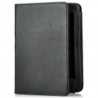 Lichee Pattern Hibernate Protective PU Leather Case for Kindle Paperwhite - Black