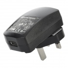 L-201 AC Power Adapter Charger w/ USB 2.0 to 30-Pin Cable for iPhone / iPad / iPod - Black (UK Plug)