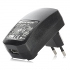 L-201 AC Power Adapter Charger w/ USB 2.0 to 30-Pin Cable for iPhone / iPad / iPod - Black (EU Plug)