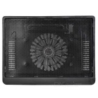 "N19 USB 2.0 Cooling Pad Fan Cooler for 14"" Notebook Laptop - Black"