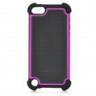 3-in-1 Protective Plastic + PC Back Case for Ipod Touch 5 - Purple + Black