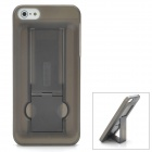 Protective 2-in-1 Plastic Back Case w/ Stand for iPhone 5 - Grey