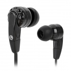 Stylish Flat Cable Mega Bass In-Ear Earphones - Black (3.5mm Plug / 120cm)