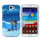 Noctilucent Concavoconvex Protective Plastic Hard Back Case for Samsung Galaxy Note 2 N7100 - Blue