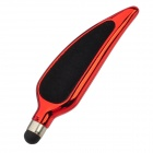 Willow Leaf Style Capacitive Touch Screen Stylus Pen - Red