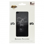 3D Spider Devil Pattern Screen Protector w/ Cleaning Cloth for Iphone 4 / 4S - Black + White (2 PCS)