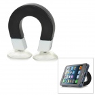 Magnetic Style w/ Suction Cup Silicone Stand Holder for iPhone 5 + More - Black