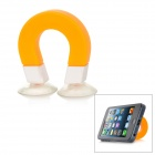 Magnetic Style w/ Suction Cup Silicone Stand Holder for iPhone 5 + More - Orange