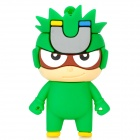 Cute Cartoon Magnet Man Style USB 2.0 Flash Drive - Green (8GB)