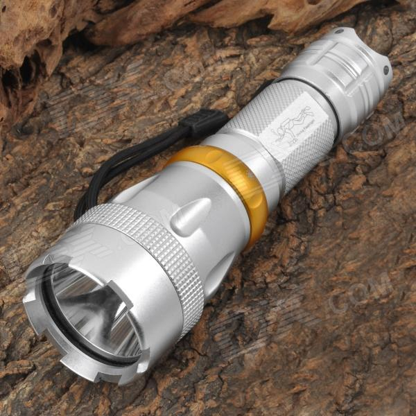 UltraFire CR-7 900lm 5-Mode White Diving Flashlight - Silver (1 x 26650)