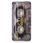 Protective Tape Pattern Plastic Back Case for Iphone 5 - Grey + Black