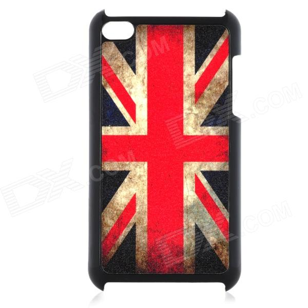 British Flag Pattern Protective Plastic Back Case for Ipod Touch 4 - Red