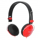 SONUN SN-B02 Stylish Adjustable Headphone Headset - Red + Black (3.5mm Plug / 110cm-Cable)