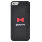 Stylish Bow Tie Pattern Plastic Back Case for Iphone 5 - Black + Red