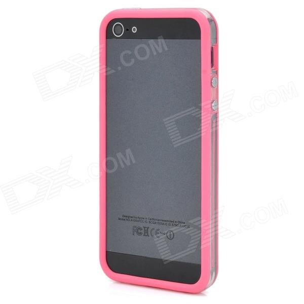 Protective Silicone Bumper Frame Case for Iphone 5 - Deep Pink stylish bubble pattern protective silicone abs back case front frame case for iphone 4 4s