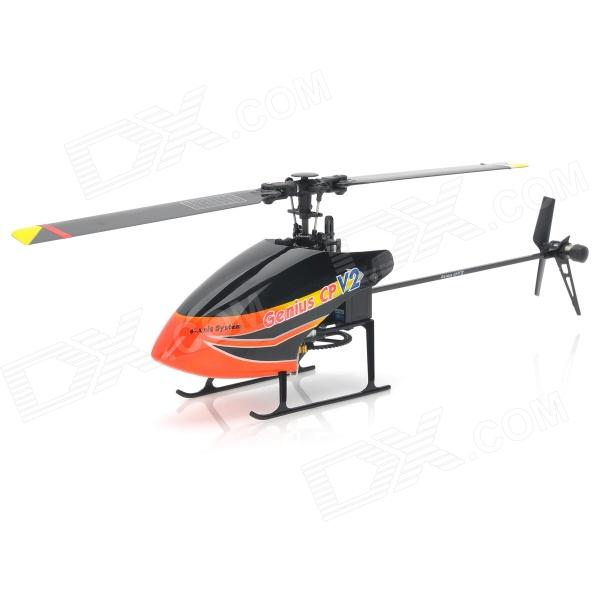Walkera Genius CP V2 Rechargeable 6-CH 2.4GHz Radio Control R/C Helicopter w/ Gyro - Black xinlin shiye x123 3 5 ch r c infrared control helicopter black yellow