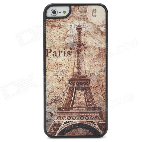 Stylish Retro Burning Eiffel Tower Pattern Plastic Back Case for Iphone 5 - Coffee viruses cell transformation and cancer 5