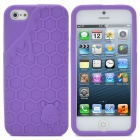 3D Melting Ice Cream with Cute Bear Pattern Protective Silicone Back Case for iPhone 5 - Purple