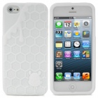 3D Melting Ice Cream with Cute Bear Pattern Protective Silicone Back Case for iPhone 5 - White