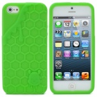 3D Melting Ice Cream with Cute Bear Pattern Protective Silicone Back Case for iPhone 5 - Green