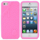 3D Melting Ice Cream with Cute Bear Pattern Protective Silicone Back Case for iPhone 5 - Pink