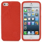 3D Melting Ice Cream with Cute Bear Pattern Protective Silicone Back Case for iPhone 5 - Red