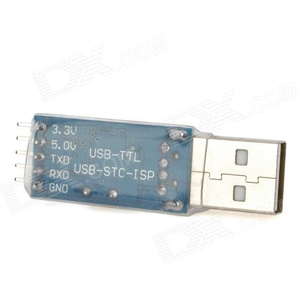 USB-TTL / STC-ISP In-Circuit Programming PL2303 Board - Blue + Silver