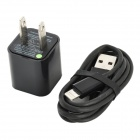 USB Power Charger Adapter w/ USB to Lightning Cable for iPhone 5 / iPod Touch 5 / Nano 7 - (US Plug)