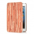 ISME Straight Wood Grain Protective PU Leather Case for Ipad MINI - Red + Brown