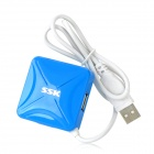 SSK SHU027 площади 480 Мбит 4-Port USB 2.0 Hub - Blue (60см-кабель)