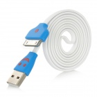 LED Smile Face Noodle-Stil USB 2.0-Stecker an 30-Pin Stecker Datenkabel für iPhone / iPod / iPad - Weiß