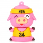 Cute Cartoon Pig-Stil USB 2.0 Flash Drive - Pink + Gelb (8GB)